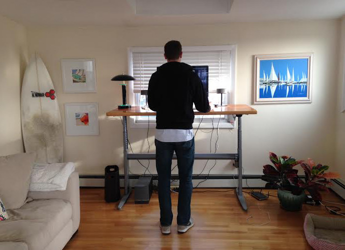 Alex at standing desk