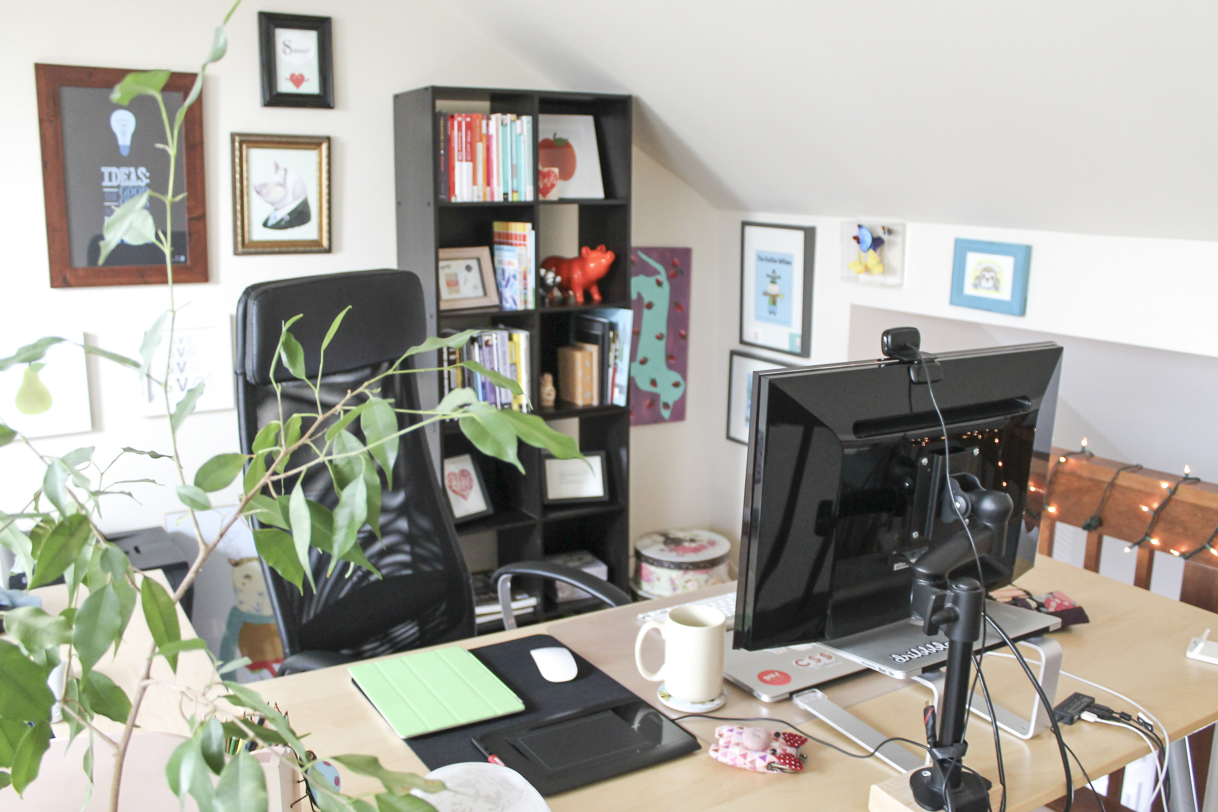 Joni Trythall's home office.